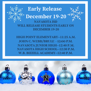 Early Release Times for December 19th & 20th Featured Photo