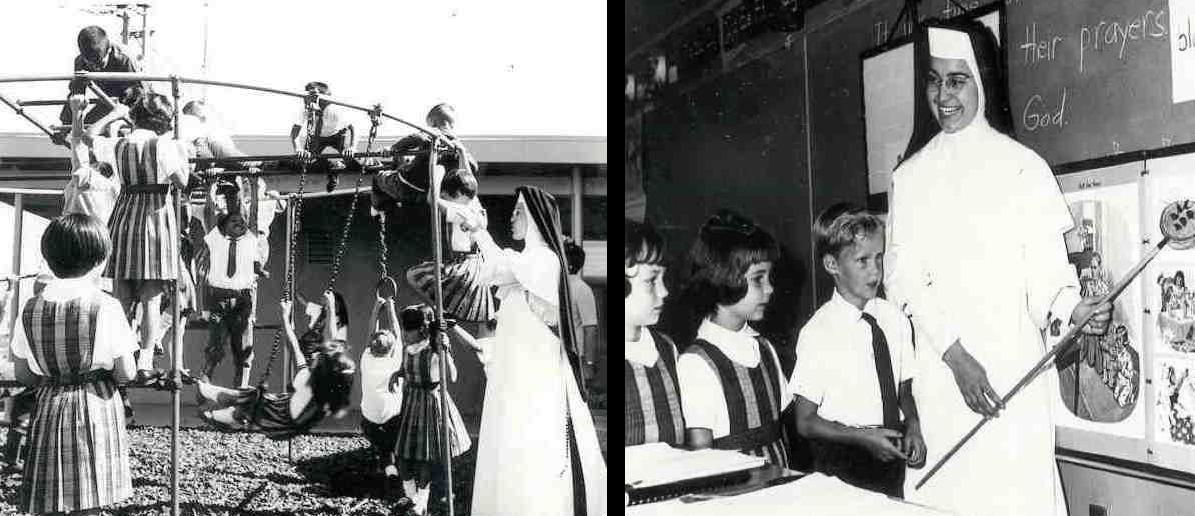 Original Playground and Sister Margaret Rose