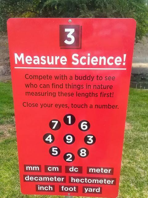 Measure Science sign at Snake River Elementary.