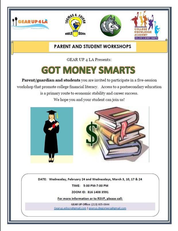 GEAR UP 4 LA Presents: Got Money Smarts   GEAR UP 4 LA presenta: Got Money Smarts Featured Photo