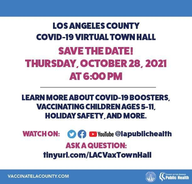 LA County COVID-19 Town Hall: Get the latest updates on COVID-19, including booster shots, vaccinations for children ages 5-11, holiday safety, and more!