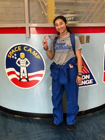 UC's Allyson Almeida earned a prestigious award at Space Camp this summer Thumbnail Image