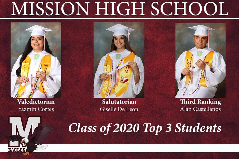 MHS Top 3 Students for 2020