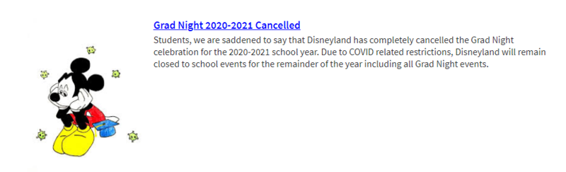grad night canceled