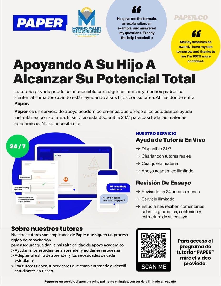 MVUSD Paper Spanish