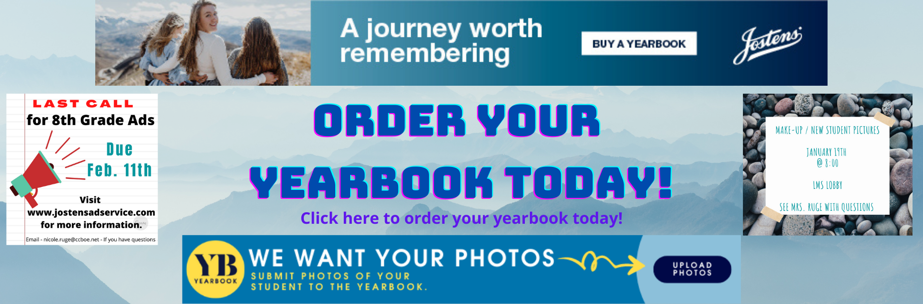 Order your yearbook today https://www.jostens.com/yearbooks/students-and-parents/about-yearbooks