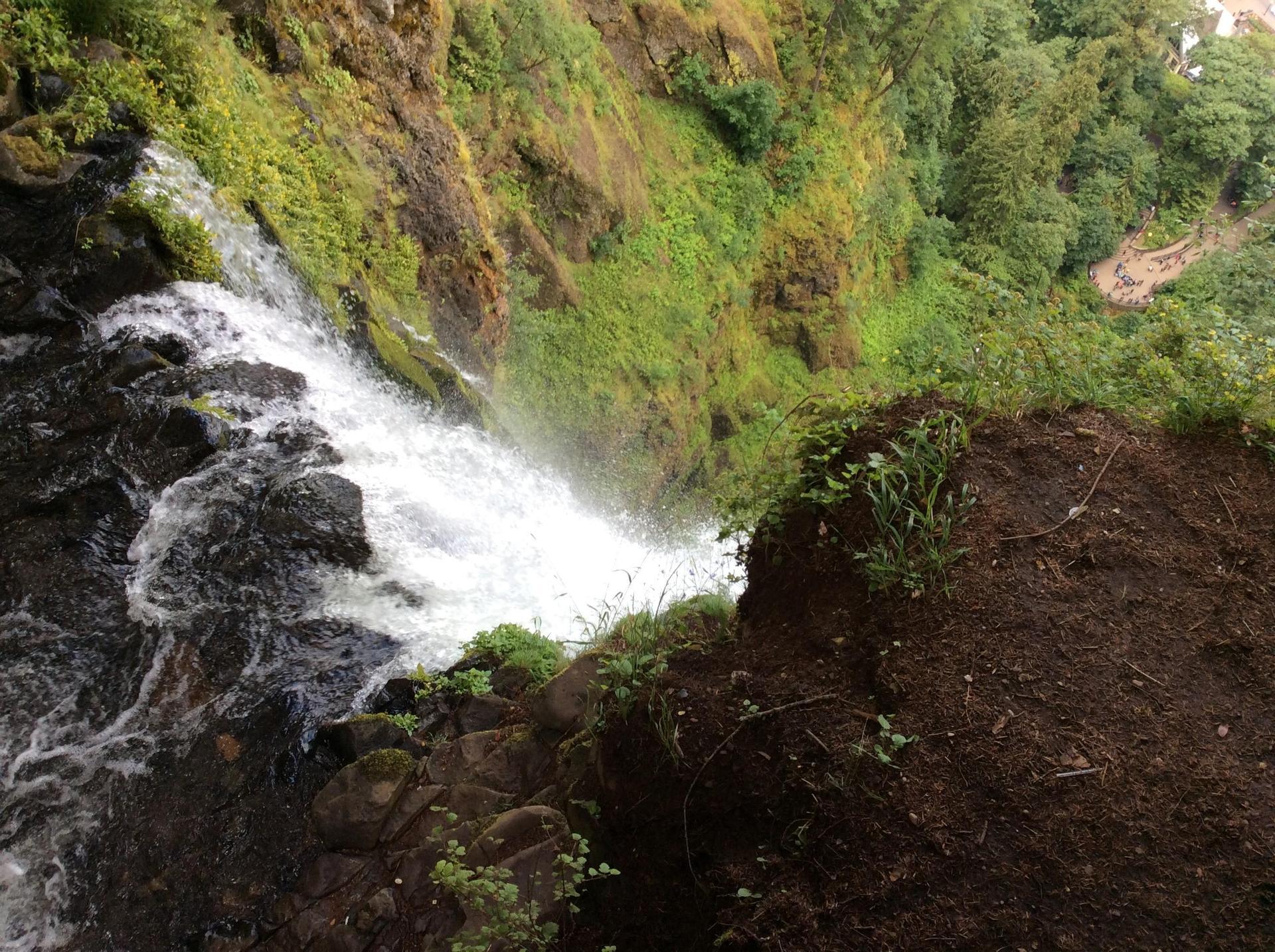 Multnomah Falls from the top!