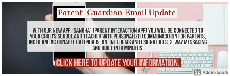Parent/ Guardian Email and Information Update Featured Photo