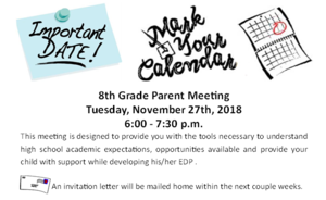 8th grade parent meeting
