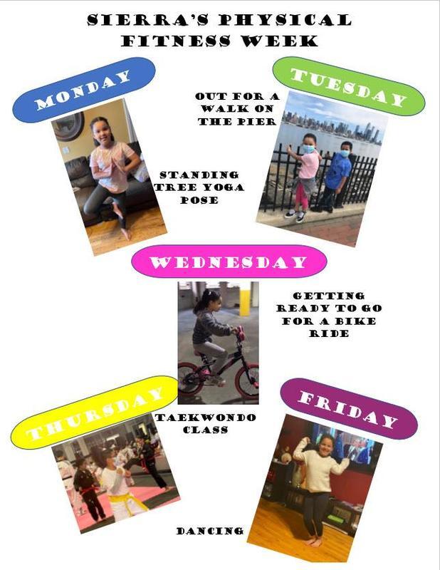 Sierra's fitness week collage