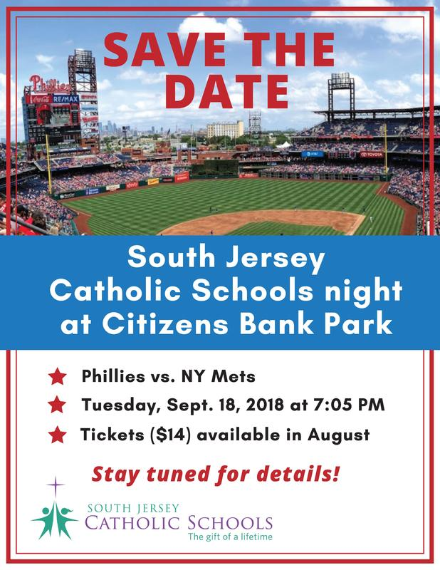 Save the Date! South Jersey Catholic Schools Day with the Phillies Featured Photo