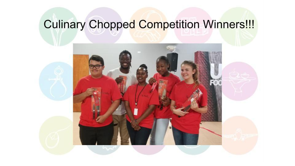 Culinary Chopped Competition Winners!!!