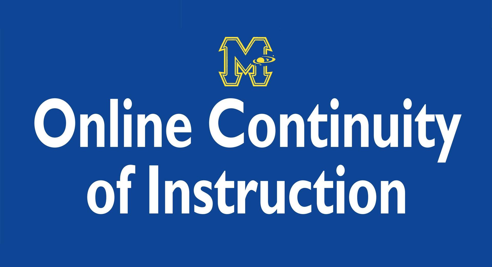 MASD Online Continuity of Instruction