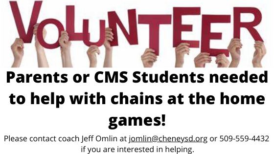 CMS Hawks Football needs Volunteers to work the chains at home football games.
