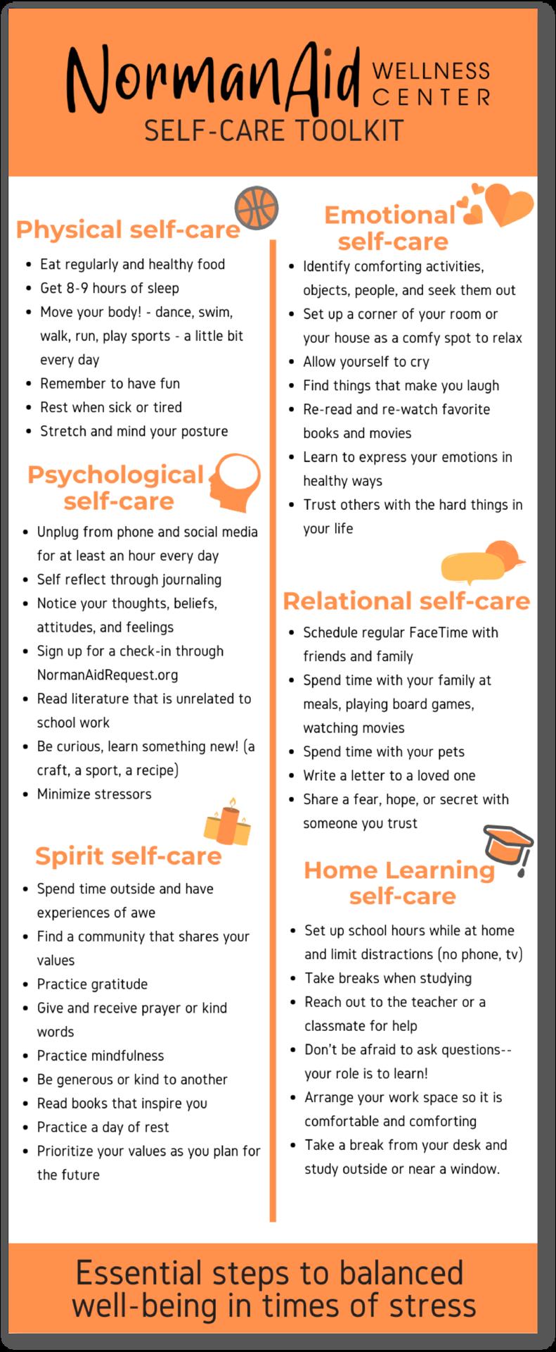 NAWC Self-care tips