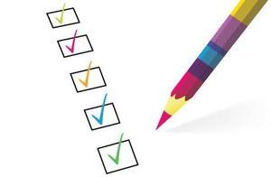 pencil checking boxes