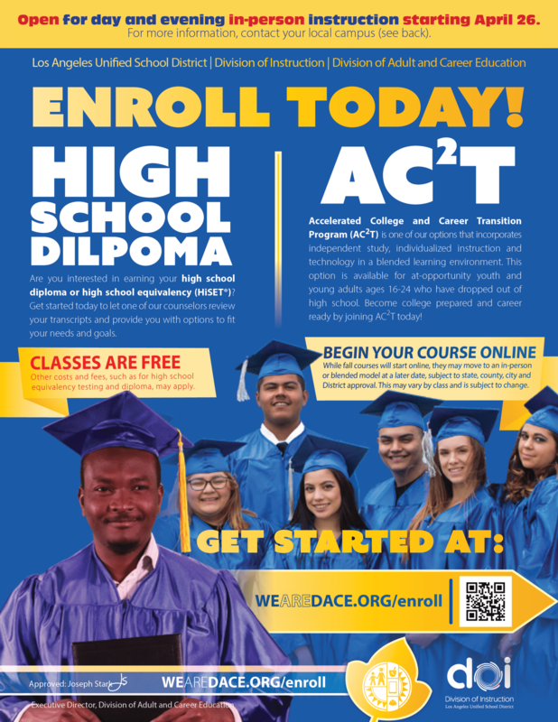 Now Enrolling for High School Diploma Featured Photo
