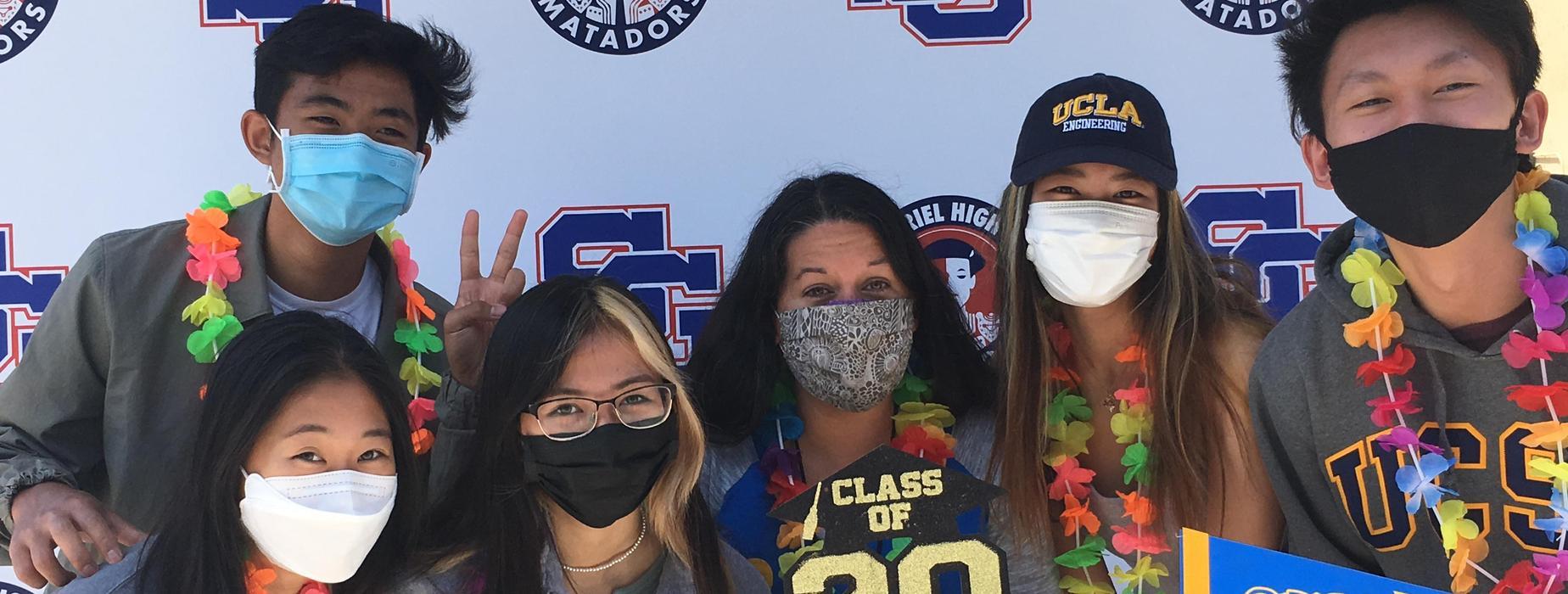 Principal Debbie Stone and 2021 Graduates