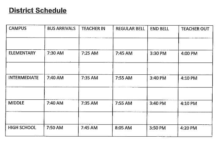 2020-21 Campus Schedules Thumbnail Image