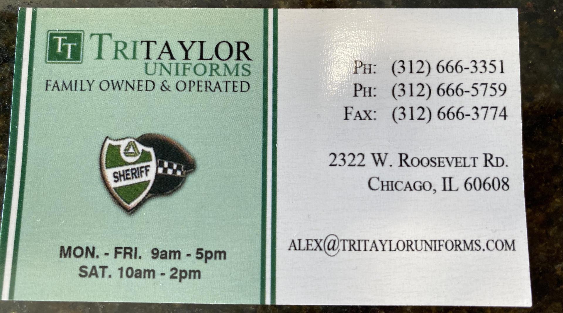 TriTaylor Uniforms information