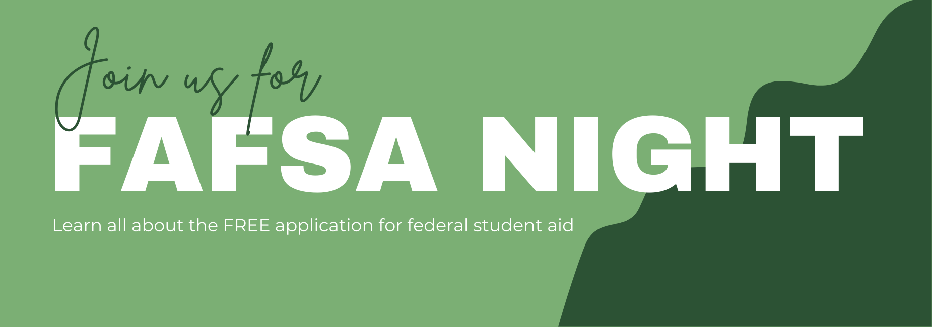 graphic reads join us for fafsa night