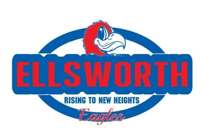 Ellsworth School Logo (red white & blue)