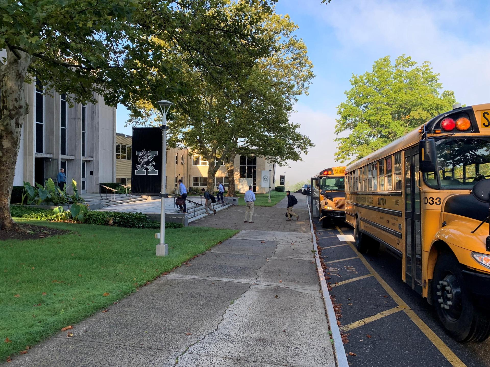 Buses Arriving at Xavier