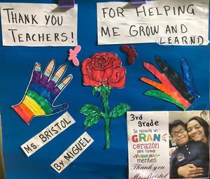 poster thanking teachers