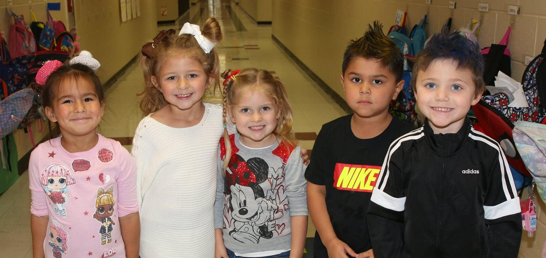 Kids with crazy hair