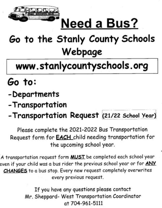 2021-2022 Bus Transportation Form Featured Photo