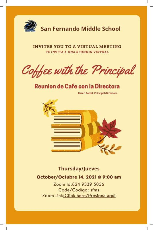 Coffee with the Principal October 2021 Featured Photo