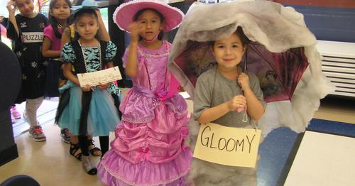 Vocabulary parade participants.