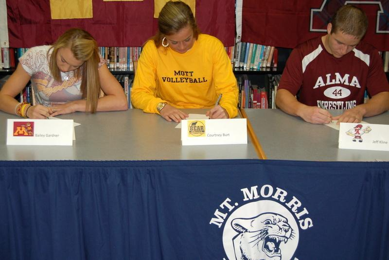Athletes Signing to play College Athletics
