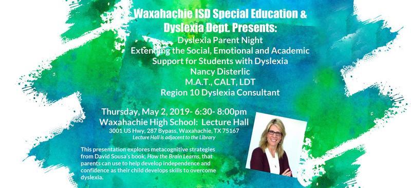 Waxahachie ISD Dyslexia Parent Night Featured Photo