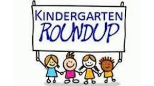 Image that reads Kindergarten Roundup to announce article - no links