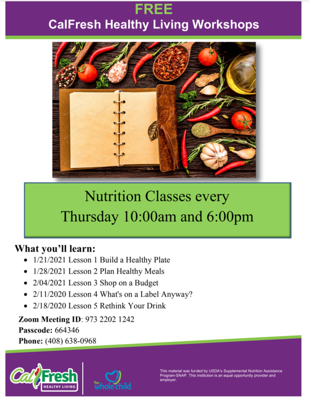 Free Nutrition Classes Featured Photo