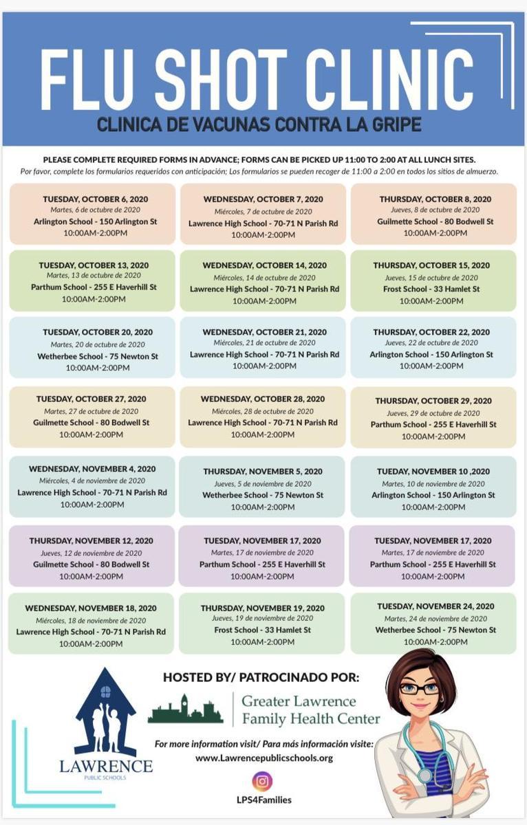 Flu Shot Clinics and Times!