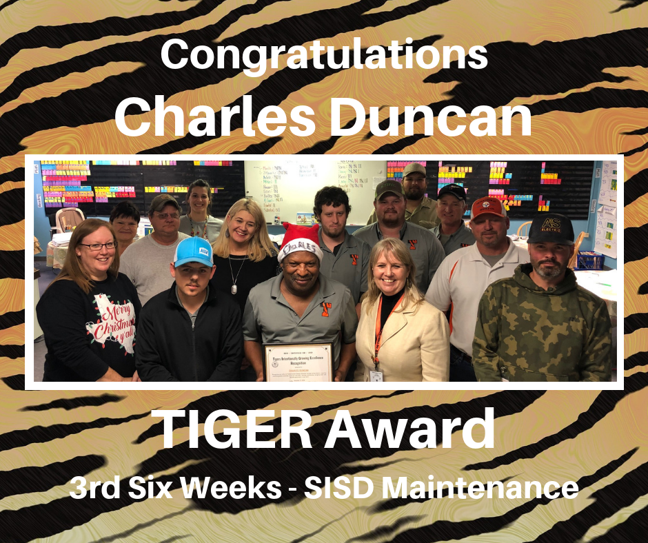 Charles Duncan TIGER Award Recipient
