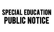 Special Ed Public Notice