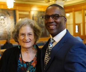Reggie Jackson & Fran Kaplan