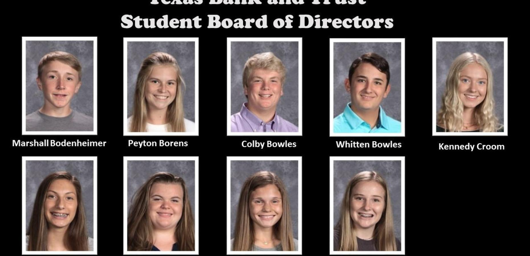 Texas Bank & Trust Student Board of Directors