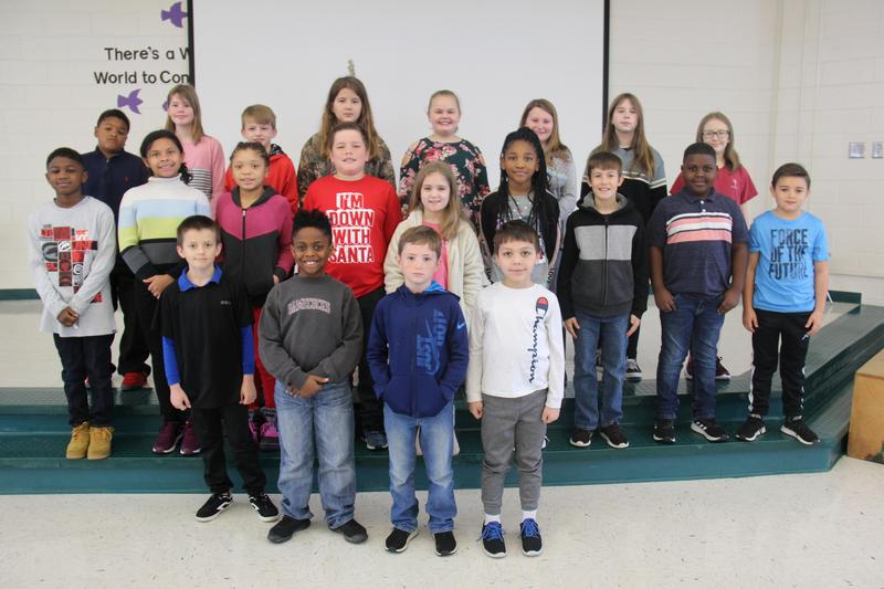 """Twenty-four students at B-L Elementary School were recently selected by the school's faculty members as displaying the character trait of """"Respect."""""""