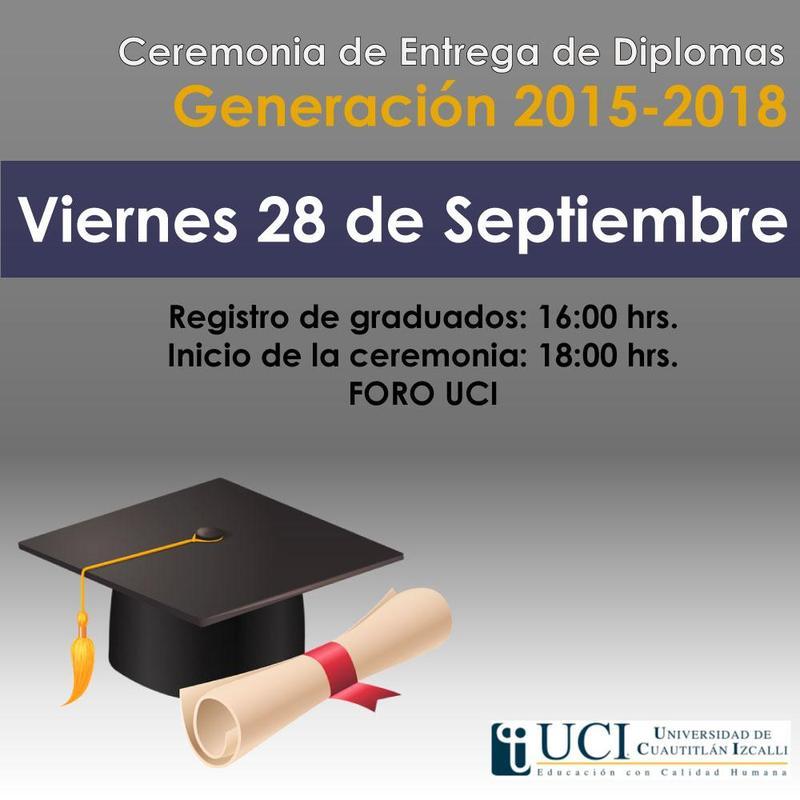 Ceremonia de Entrega de Diplomas Generación 2015-2018 Featured Photo