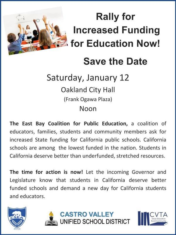 Flyer for rally in Oakland
