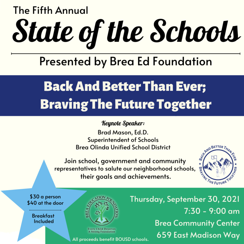 State of the Schools  September 30