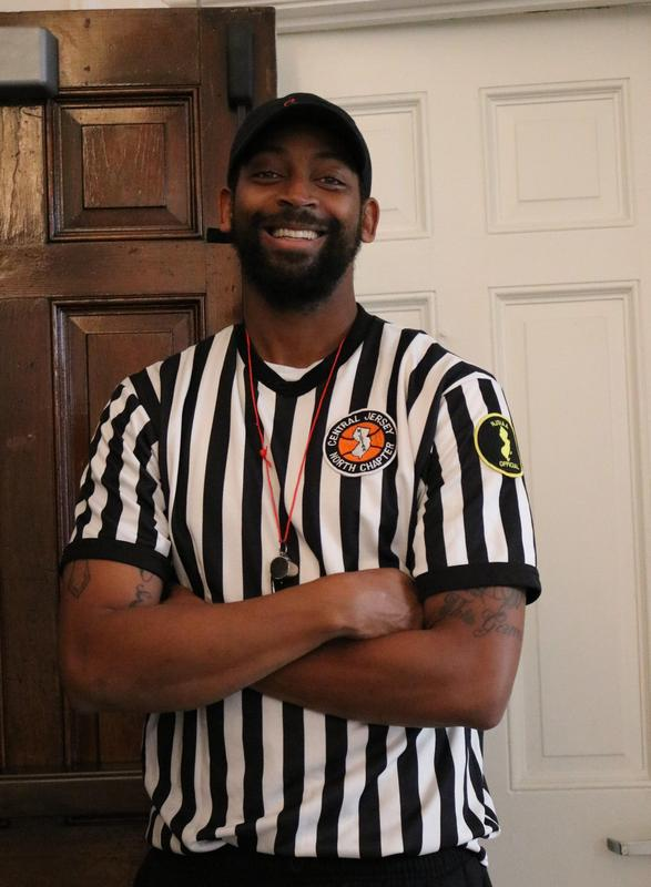 McKinley head custodian dresses as a referee for Halloween.