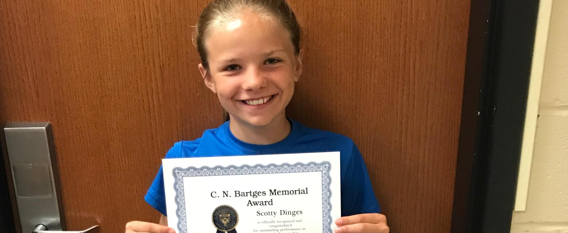 Scotty Dinges - Bartges Award Winner