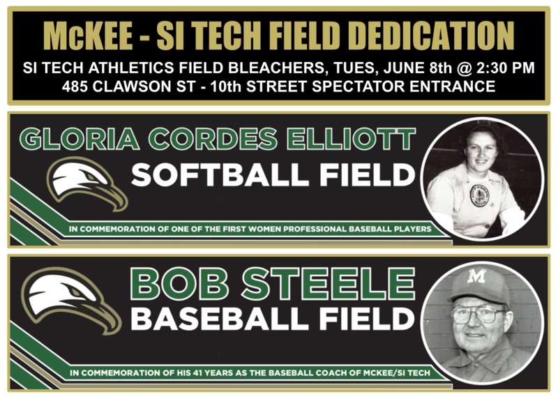 Field dedication information for Ms. Gloria Cordes Elliott and Mr. Bob Steele