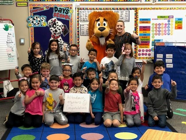Congratulations to Mrs. Christensen's Kinder Class for the Highest Attendance for February 2019!! Thumbnail Image
