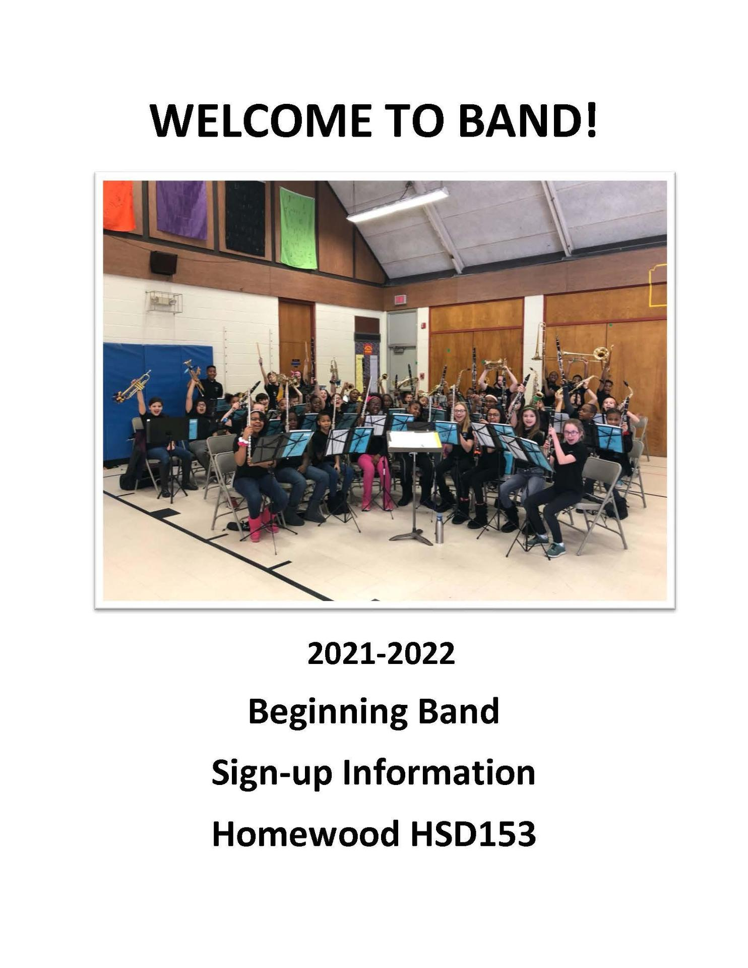 beginning band for 6th-graders